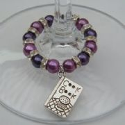Cook Book Wine Glass Charm - Full Sparkle Style